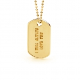 Dog Tag Pendant Small GOLD